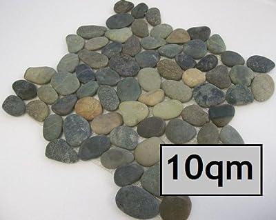 """10 qm Kiesel Mosaik Fliesen """"Waldmix"""" von Gastromia - TapetenShop"""