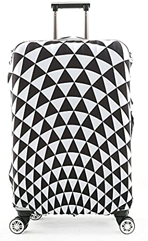 Schönes Leben* Elastisch Kofferhülle Kofferschutzhülle Luggage Cover Gepäck Cover Kofferbezug Reisekoffer Hülle Kofferschutz Pop Prism (XL 30-32 Zoll)