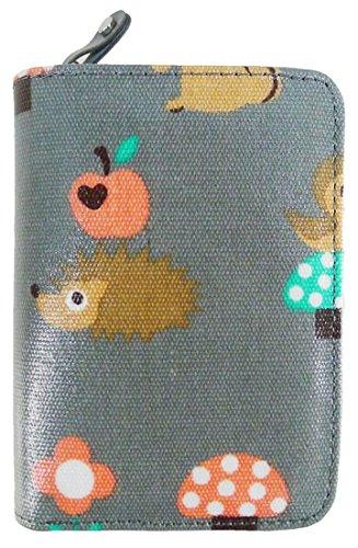 Kukubird Vari Gatti Unicorni Animali Ancora Ombrello Floreale Pattern Medium Signore Borsa Frizione Portafoglio Critters Grey