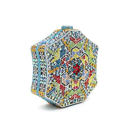 Damen-Abendessen Set Strass Diamanten und Diamanten High-End-Diamant-Wallet Glänzende Handtasche Bankett color 2