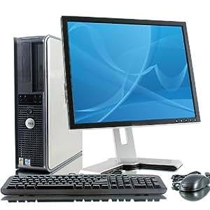 "Dell Desktop PC Computer Set - 17"" Flat Dell Brand LCD Monitor - Optiplex Series Desktop - 1GB - 80GB - Wireless Internet Ready WIFI - Keyboard - Mouse - Power Cord - Windows XP Pro SP3 Pre-installed"
