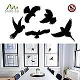 Gardigo Vogelschutz Aufkleber | Vogelsilhouetten | für Fenster, Türen, Wintergärten, Gewächshäuser | Fensterschutz vor Vogelschlag