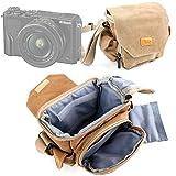 DURAGADGET Etui de protection pour Panasonic Lumix GF8, Nikon DL 18-50 et DL 24-85 et Fujifilm X-Pro2 appareil photo compacts experts - style vintage couleur sable