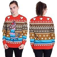 Hanomes Damen pullover, Frauen Weihnachten Hobbyhorse 3D Druck Langarm Sweatshirt Pullover Top preisvergleich bei billige-tabletten.eu