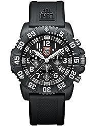 Luminox Navy Seal Colormark 3081 - Reloj de caballero de cuarzo, correa de caucho color negro