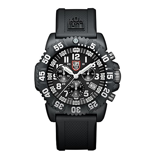 Luminox-Navy-SEAL-Colormark-Chronograph-Mens-Quartz-watch-with-Black-dial-featuring-LLT-Luminox-light-Technology-44-millimeters-Carbon-Compound-case-and-Black-PU-Strap-XS3081
