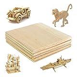 YNuth 20pz Piatto di Legno Modello Balsa Lastre di Legno Woodcraft DIY Creative Gioco Per Bambini e Adults