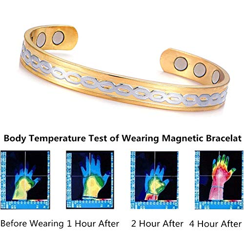 JZTRADING Magnetarmband Für Rheumatoide Arthritis Relief Für Arthritis Relief Für Karpaltunnel Therapie Magnete Armreifen Magnet-Armband - Rheumatoide Arthritis-entzündungen