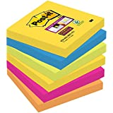 Post-it Notes Super Sticky Collection Rio - 76 x 76 mm - Lot de 6