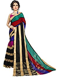 Dream Beauty Fashion MultiColor Printed Cotton Silk Saree