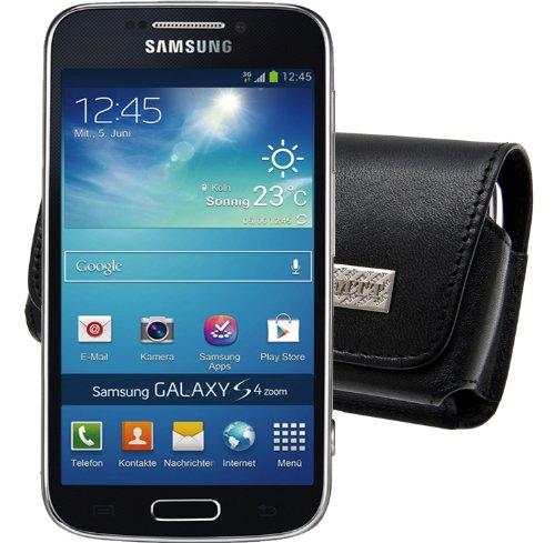 Original MTT Quertasche fuer / Samsung Galaxy S4 Zoom (SM-C101) / Horizontal Tasche Ledertasche Handytasche Etui mit Clip und Sicherheitsschlaufe*
