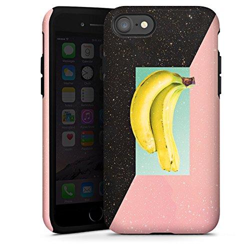 Apple iPhone X Silikon Hülle Case Schutzhülle Banane Hipster Sterne Tough Case glänzend