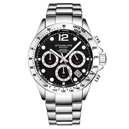 Stührling Original orologio cronografo da uomo, in acciaio INOX, con vite,...