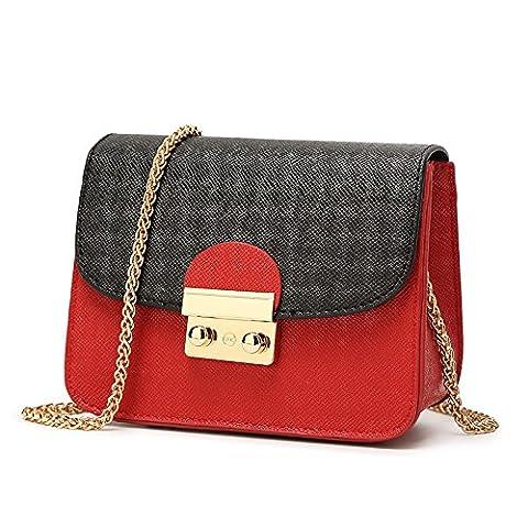 Mefly Mode Schulter Xiekua Paket Tasche eine kleine schwarze Schleier