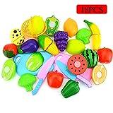 Meiqils 18pcs Giochi di Frutta da Tagliere con Frutta immagine