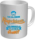 RAHMENLOS Original Kaffeebecher: Ich Bin Kein Klugscheisser - Im Geschenkkarton 2614