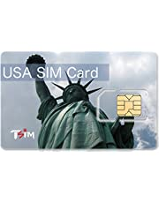 TSIM 8GB 1 month Unlimited USA SIM Card with Unlimited Calls to India/local calls and incoming/SMS