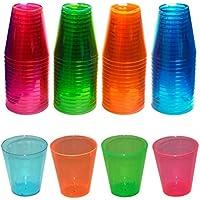Northwest Enterprises - Bicchierini in plastica, confezione da 60, colore: Assortiti - Disposable Partito Posate Di Plastica