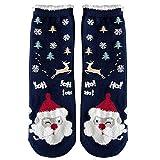 Fenverk Unisex Weihnachtssocken Christmas Socks Weihnachtsmotiv Weihnachten Festlicher Baumwolle Socken Mix Design für Damen und Herren(C)