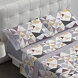 Burrito Blanco - Juego de sábanas 468 Gris de 150x190/200 cm
