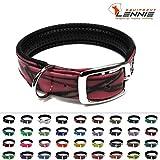 LENNIE BioThane Halsband, gepolstert, Dornschnalle, 25 mm breit, Größe 50-58 cm, Pink-Camouflage