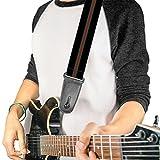 Buckle-down Sangle de guitare Stripe Black/Green/Red