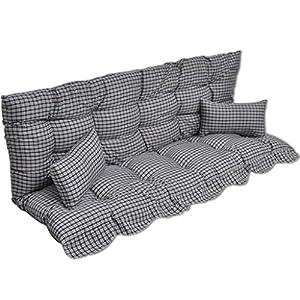 Zora Walter Blau und Gr¨¹n Hollywoodschaukel Auflage Polster Multifarbe Streifendesign Stuhlkissen Sitzkissen for…
