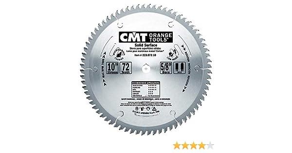 CMT Orange Tools 223.072.10M Sierra circular para corian d 250x3.2x30 z 72 mtcg