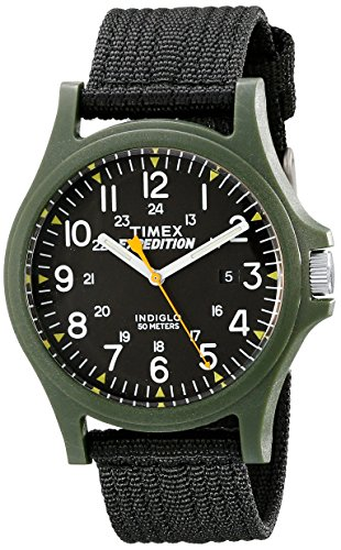 Timex Men's TW4999800 Expedition Acadia Black/Green Nylon Strap Watch