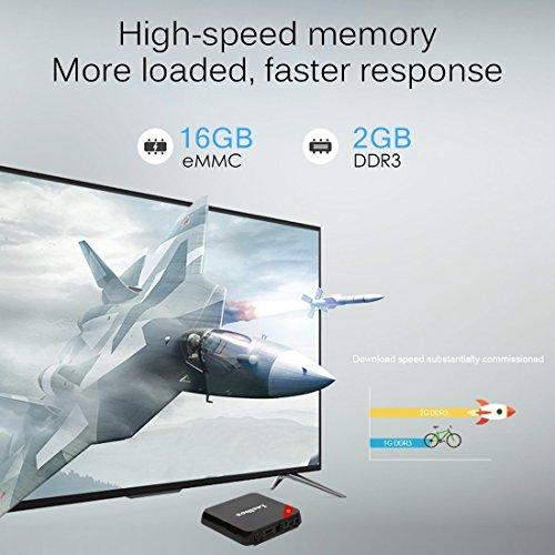 Leelbox Q3 Android 7.1 TV Box Octa Core Amlogic S912/2GB RAM+16GB ROM Smart TV Box/Dual Wifi de 2.4GHz y 5.8GHz/BT 4.0/HD/H.265/4K(60 HZ)/1000M LAN