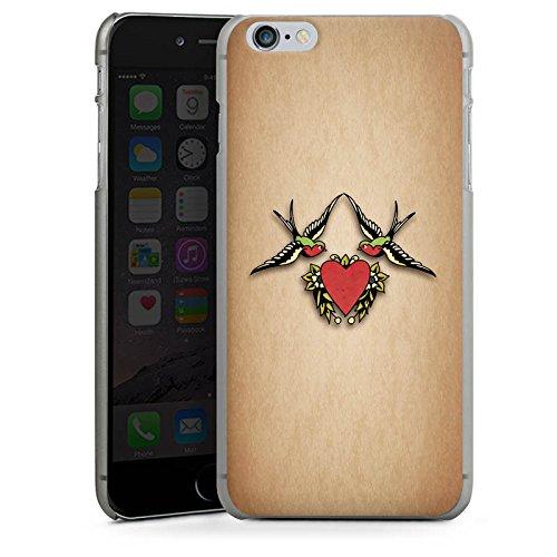 Apple iPhone X Silikon Hülle Case Schutzhülle Schwalben Liebe Tätowierung Tattoo Hard Case anthrazit-klar