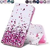 Huihai Huawei Y5 II/Y5 2 Hülle, Flip Case Cover Exquisite Malerei [Liebe Herz] PU Leder Tasche Brieftasche Handyhülle, mit Standfunktion Schutzhülle für Huawei Y5 II/Y5 2 CUN-L21 (5.0 Zoll)
