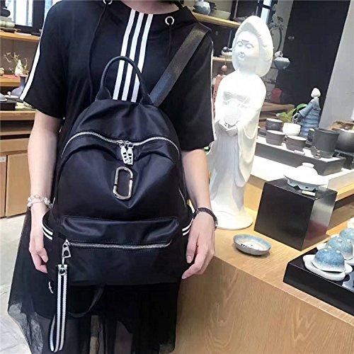 alla moda donna borsa, nuovo stile borsa a tracolla, oxford, stoffa, studente di borsa, la scuola.,nastro di colore black & white strip