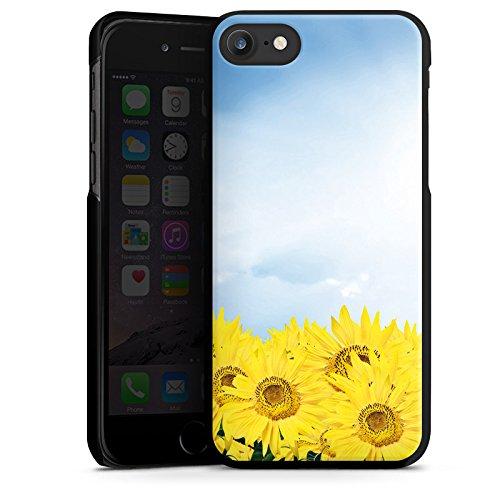 Apple iPhone X Silikon Hülle Case Schutzhülle Sonnenblumen Himmel Sonne Hard Case schwarz