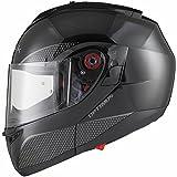 Black Optimus SV Motorrad Roller Klapphelm M Gloss Black - 5