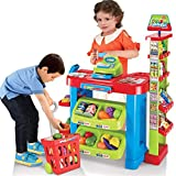 Casa delle bambole Compra e vendi Fai finta di giocare Giocattoli Casa Supermercato Carrello Set Ragazzi Ragazzi Mercato Bancarella Giocattolo Acquisti Vendite Registratore di cassa Giocattoli con gio