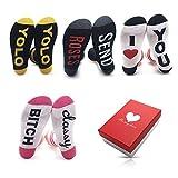 Winter lustige, flauschige Damen-Socken als Geschenk zum Geburtstag und Valentinstag, Größe 39 - 42 Gr. 37-42, Thick for Autumn - 4pack