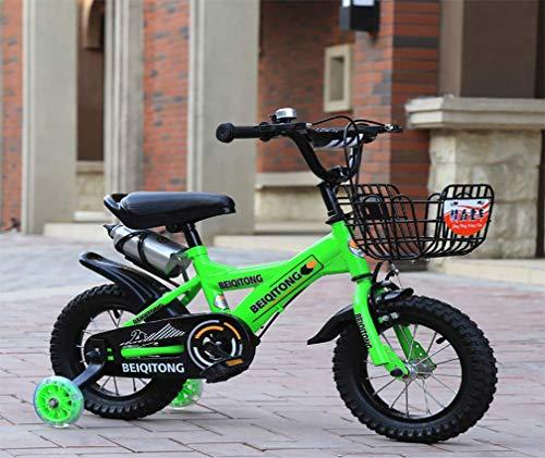 HFYAK Bicicletas Infantiles para 6 7 8 9 AñOs,18 Pulgadas Bicicleta Ruedas De Entrenamiento Titular...