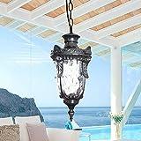 Neixy- lámpara impermeable al aire libre Vintage industrial E27 Edison luces colgantes de cristal Jardín exterior jardín luces de techo de aluminio accesorios balcón pasillo pasillo pabellón lámparas de iluminación