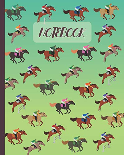Notebook: Horse Racing & Equestrian Sport (Volume 2) - Lined Notebook, Diary, Track, Log & Journal - Cute Gift for Kids, Teens, Men, Women Who Love Horse Riding (8