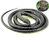 Liuer 130cm Serpiente Realista,Serpiente Goma Suave Juguete De Inicio...