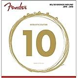 Fender 70XL Extra Light 80/20 Bronze Acoustic Guitar Strings, Ball End, .010-.048 Gauges, Set of 6