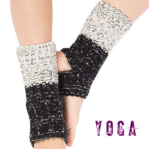 Grist CC Calzini Yoga Scaldamuscoli da Donna con Foro per Il Tallone per Allenarsi Pilates Danza,A