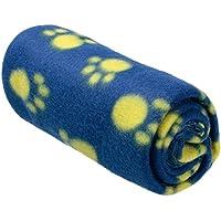 YARBAR Pet Dog cucciolo del gatto del gattino Corallo molle cashmere coperta Alla Warm Bed Mat Paw Print Cuscino