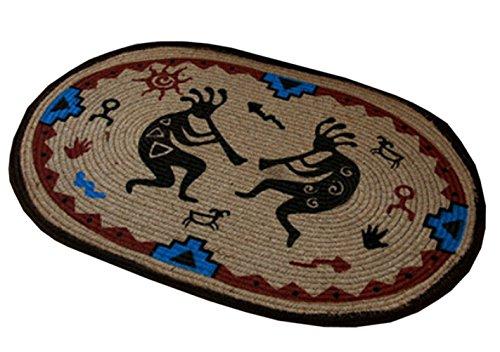 Rabatt Geflochtene Teppiche (Land Indian Anti-Rutsch-Dekor/Küche/Schlafzimmer Teppich/Fußmatte 50x75cm)