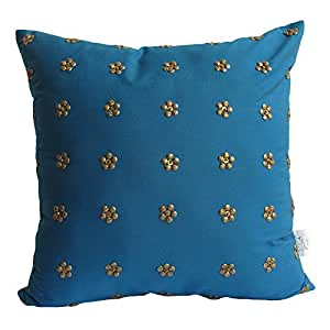 Per Inch Design's Blue Flower Cushion Cover