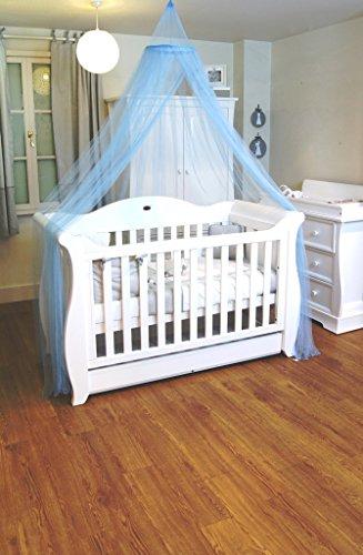 Mosquito Nets 4 U - Baby Blue Baldacchino / zanzariera per Lettino