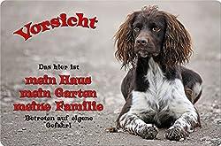 +++ Kleiner MÜNSTERLÄNDER - Metall WARNSCHILD Schild Hundeschild Sign - KLM 01 T1