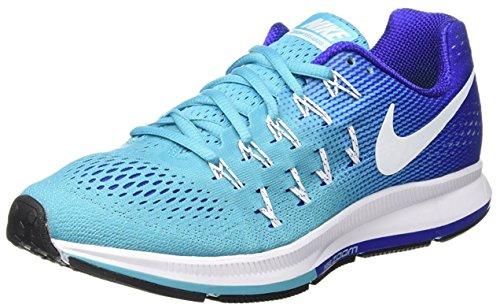 Nike Wmns Air Zoom Pegasus 33, Zapatillas de Running para Mujer, Azul (Gamma Blue/White-Concord-Black), 36 1/2 EU