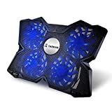 Tarkan Heavy Duty [4 Fans] LED Gaming Cooling Pad [Suitable for upto 17 inch Laptops]